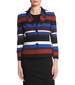Nine West® Three Button Jacket With Patch Pockets