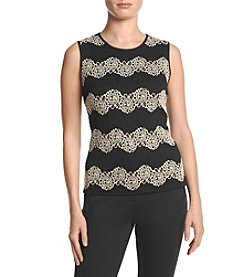 Kasper® Stretch Lace Top