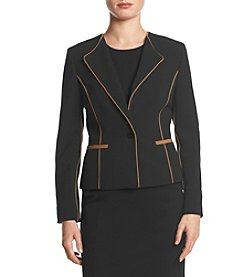 Nine West® One Button Piped Jacket