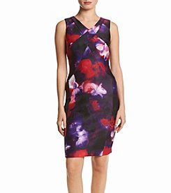 Calvin Klein Floral V-Neck Dress