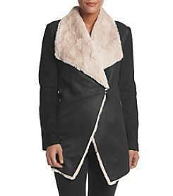 Calvin Klein Fur And Suede Flyaway Jacket