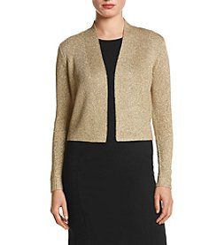 Calvin Klein Goldtone Lurex® Shrug Sweater