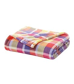 LivingQuarters Plaid Micro Cozy Throw