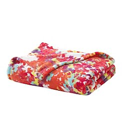 LivingQuarters Floral Micro Cozy Throw