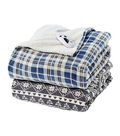 LivingQuarters Patterned Electric Throw