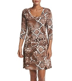Karen Kane® Printed A-Line Dress
