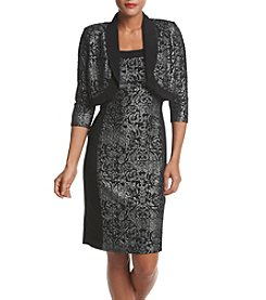 R&M Richards® Lurex® Jacquard Dress