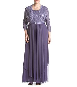 R&M Richards® Plus Size Lace Jacket And Dress