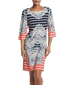 Madison Leigh® Striped Paisley Dress