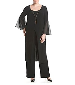 R&M Richards® Plus Size Chiffon Pant Set Dress