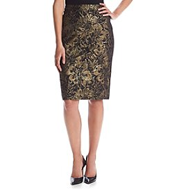 Calvin Klein Rose Pattern Pencil Skirt