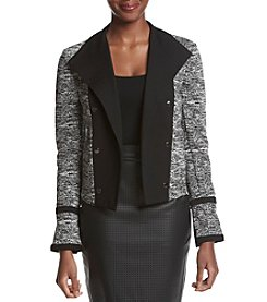 Calvin Klein Tweed Ponte Jacket