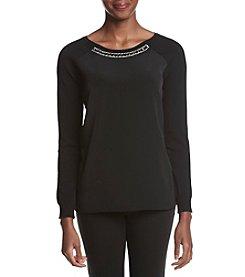 Calvin Klein Embellished Neck Raglan Sweater