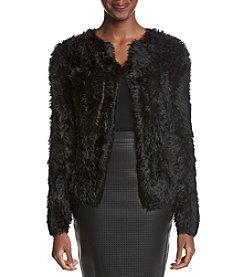 Calvin Klein Faux Fur Open Cardigan