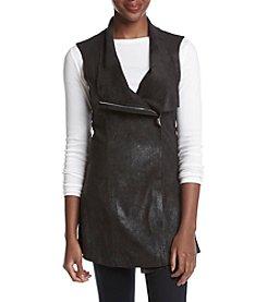 Calvin Klein Distressed Faux Suede Vest