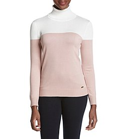 Calvin Klein Color Block Turtleneck
