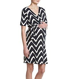 Three Seasons Maternity™ Chevron Print Dress