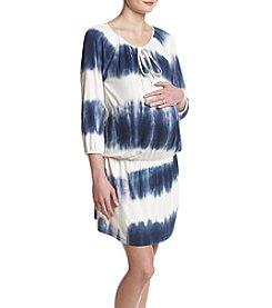 Three Seasons Maternity™ Stripe Drop Waist Dress