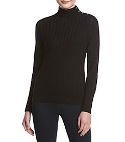 Tommy Hilfiger® Mock Neck Cable Sweater