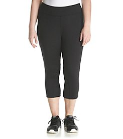 Exertek® Plus Size Mesh Cropped Pants