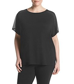 Exertek® Plus Size Mesh Sleeve Tee