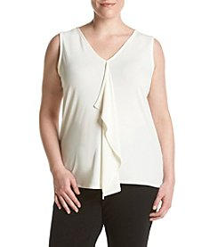Jones New York® Plus Size Ruffle Front Tank