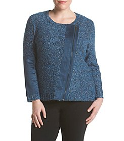 Jones New York® Plus Size Curly Boucle Asymmetric Cardigan