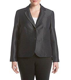 Calvin Klein Plus Size Jaquard Dot Jacket