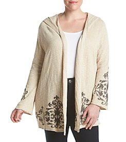 Democracy Plus Size Printed Cardigan