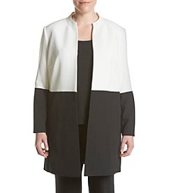 Kasper® Plus Size Stretch Crepe Colorblock Jacket