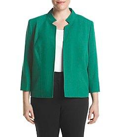 Kasper® Plus Size Crepe Mandarin Collar Jacket