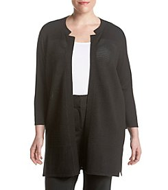Kasper® Plus Size Textured Cardigan