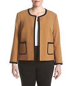 Nine West® Plus Size Stretch Crepe Framed Jacket