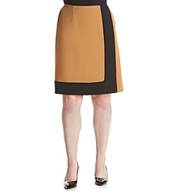 Nine West® Plus Size Colorblock A-Line Skirt