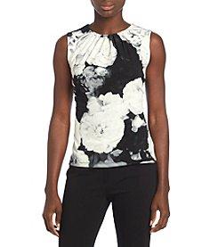 Calvin Klein Petites' Pleatneck Large Floral Print Cami