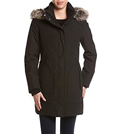 London Fog® Faux Fur Trimmed Hooded Coat
