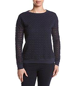 Ruff Hewn Lace Front Sweatshirt