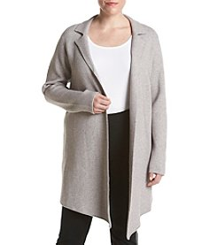 Ruff Hewn GREY Plus Size Asymmetrical Hem Sweater Coat