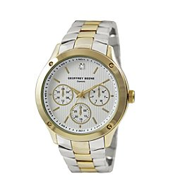 Geoffrey Beene Two Tone Gold Diamond Accent Watch