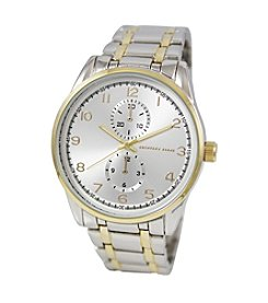 Geoffrey Beene Two-Tone Bracelet Round Case Watch