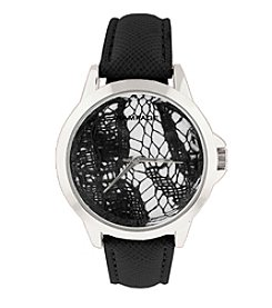 Rampage® Black Lace Dial Watch