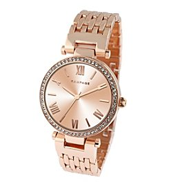 Rampage® Rose Goldtone Classic Bracelet Watch with a Sunray Dial