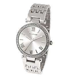 Rampage® Silvertone Classic Bracelet Watch with Silvertone Sunray Dial