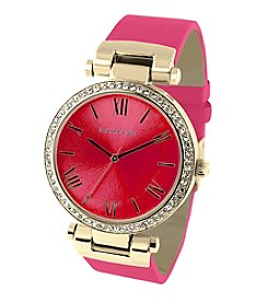 Rampage® Women's Goldtone and Pink Watch