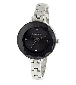 Rampage® Raised Faceted Crystal Bezel Skinny Bracelet Watch