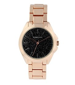 Rampage® Rose Goldtone Scattered Flake Dial Bracelet Watch
