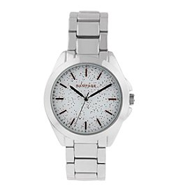 Rampage® Silvertone Scattered Flake Dial Bracelet Watch