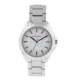 Rampage® Silvertone Scattered Flake Dial Bracelet Watch