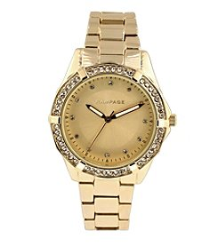 Rampage® Crystal Bezel & Dial Goldtone Watch