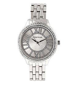 Rampage® Silvertone Crystal Bezel Bracelet Watch